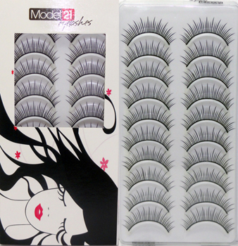 Model 21 Eyelashes No. 1T 10 Pairs
